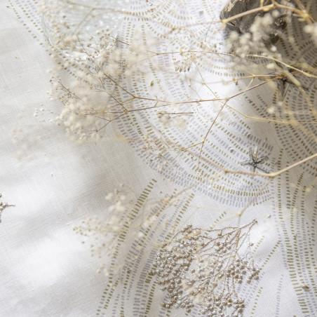 Nappe en 100% lin imprimé brodé Oceanide - Alexandre Turpault