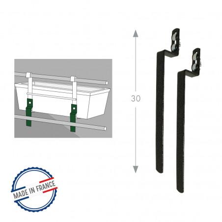 Kit anti bascule pour supports de jardinières - Gris Souris - Louis Moulin