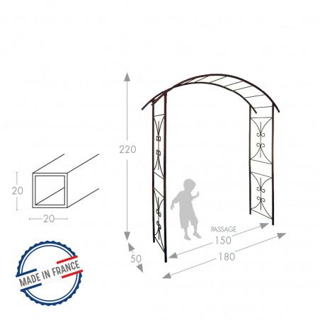 """Arche de jardin décor """"PONT"""" - Louis Moulin"""