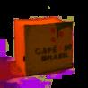 Pouf cube en toile de Jute - Lilokawa