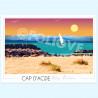 Affiche la plage du Cap d'Agde - Foliove